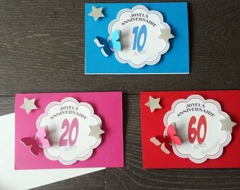 Custom embossed 3D birthday card