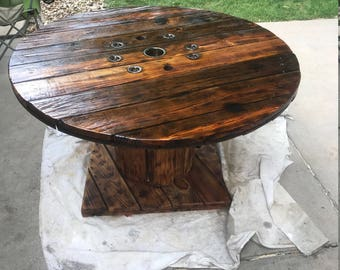 custom wire spool table