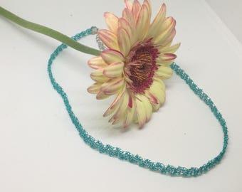 Halskette Türkis Elegant aus Draht, Turqoise Choker/Necklace
