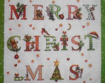 106 merry christmas napkin