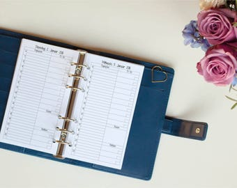Calendar deposit staff with recipe 1T/1s Filofax