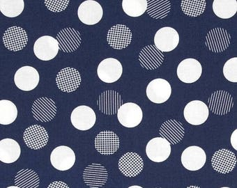 Color Theory Dots in Navy Yardage - 1 Yard Cut - Vanessa Christenson of V and Co - Moda - 10833 15