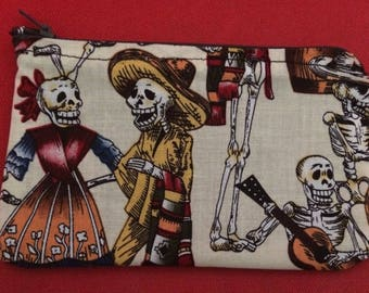 Day of the dead coin purse /gum shield bag