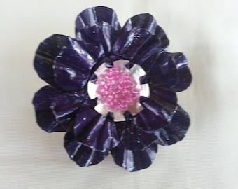 Brooch purple nespresso capsules