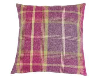 Balmoral Amethyst Checked Tartan Plaid Cushion Cover