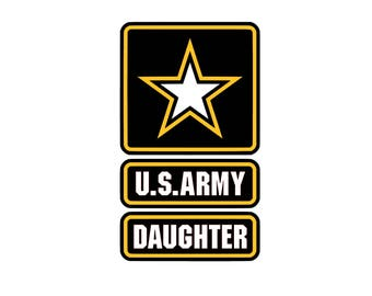 US Daughter SVG and Studio 3 Cut File Decal Cut Files Logo Military Silhouette Cricut Decals Cuts Logos United States of America Army