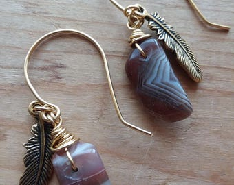 Gemstone Earrings Dangle Earrings Natural Gemstone Tribal Earrings