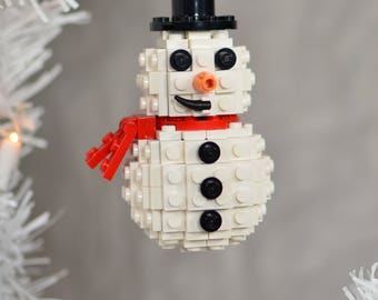 Lego Christmas Ornament - Snowman