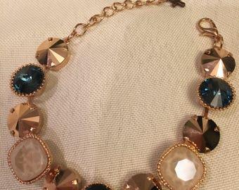 Multi-size Swarovski stone Bracelet