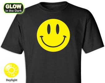 Smiley Happy Face Glow-in-the-Dark Shirt