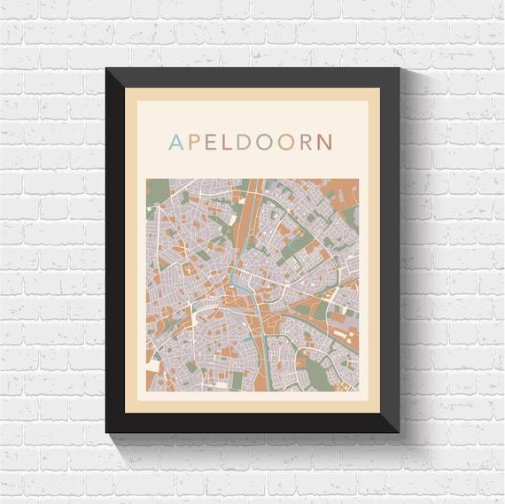 Apeldoorn Map Apeldoorn Poster Apeldoorn Print Map of