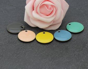 18 mm: 10 round sequins multicoloured Set2