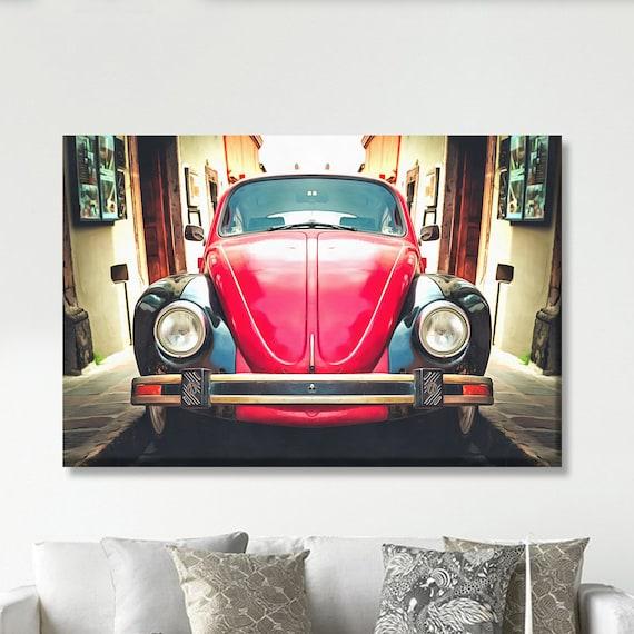 Beetle car print, Car print, Canvas art, Large art print, Interior decor, Wall decor, Print, Gift for her, Wall Art, Wall decor, Gift