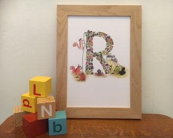 Nursery print - Letter R