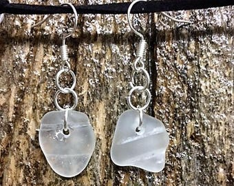 Made from sea glass earrings