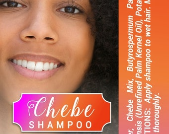 wholesale Chebe Shampoo 100% Pure and Natural, made with authentic Chebe Powder from Chad, Shea Butter - 4 ounces