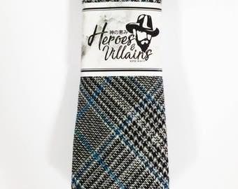Grey wool tie,skinny ties,gingham tie,checkers skinny ties,groomsmen tie,floral ties,wedding ties,wool ties,dapper tie,grey tie