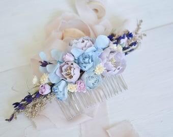 Lavender Hair comb, Bridal hair comb, Blush Wedding hair comb, Blush Bridal headpiece, Wedding headpiece,Bridesmaids headpiece, Bridal