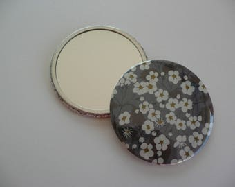 Mirror 7.50 cm 75 mm liberty Mitsi gray