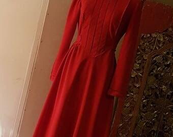 Original Finlaw of Melbourne Red dress/ circa 1960