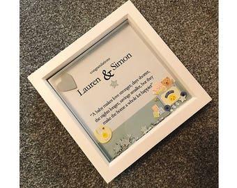 Congratulations New Baby Box Frame