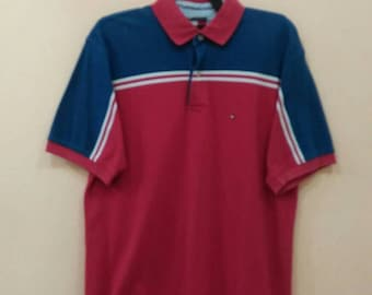 TOMMY HILFIGER polo shirt nice design large size
