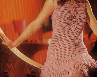 Ladies Summer Dress, Crochet Pattern. Instant Download.