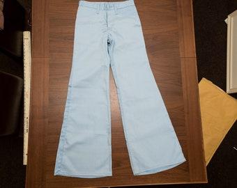 Wrangler Blue bell sky blue flared jeans