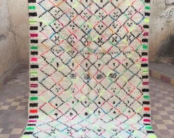 Azilal rug, berber rug, tribal symbols, vintage moroccan rug, vintage berber rug, 240x140cm,boho style,moroccan area rug, accent rug