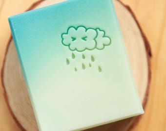 Ashuai soap-Acrylic soap stamp A088 Teary cloud(free shipping)
