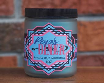 8oz Pop's Diner Candle, Riverdale Candle, Archie Candle, Gillywick Goods, TV Show, Pop Culture Candle