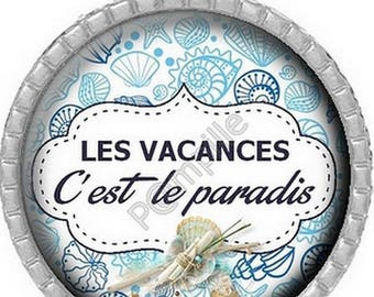 Cabochon pendant - Holiday is Heaven (589) digital image