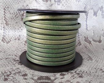 Gold 5mm Green of high quality European leather strap