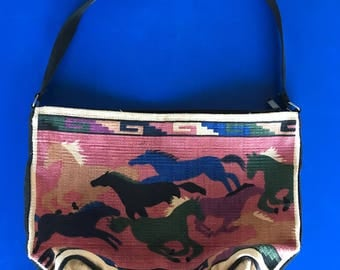 Woven Native American shoulder bag