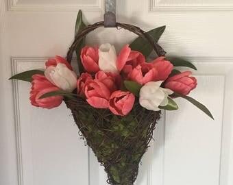 Tulip wall decor or wreath. Ready to ship!