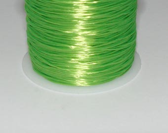 5 m elastic green neon 0.8 mm thick