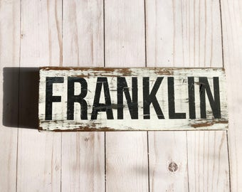 farmhouse-farmhouse sign-city sign-custom sign-personalized sign-distressed sign-shabby-vintage-cottage-wall sign-wood sign