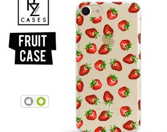 Strawberry Phone Case, Summer Case, Strawberry Case, Fruit Phone Case, iPhone 7, iPhone 6, iPhone 7 Plus, iPhone 6 plus, Samsung Galaxy Case