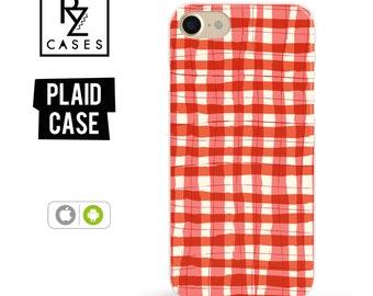 Plaid Phone Case, iPhone 7 Case, iPhone 6s Plus, Tartan Phone Case, Gift For Her, iPhone 6, iPhone 7 Plus, Gift, iPhone 6 Plus, Samsung Case