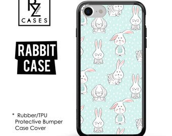 Bunny Phone Case, Rabbit Phone Case, Cute Bunny Case, iPhone 7, Animal, Gift for Her, iPhone 7 Plus, iPhone 6S, Rubber, Bumper