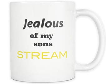 Ageing Humour Funny Father Son Toilet Humour Coffee Mug Tea Cup Jealous Sarcastic 60th 50th 40th 45th Birthday Gift or Fathers Day Present
