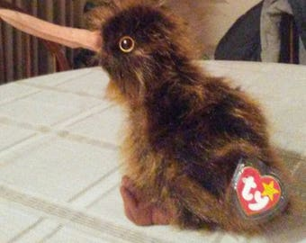 1998 RARE Vintage Beanie Buddy BEAK the KIWI bird
