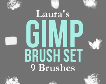 Laura's Gimp Brush Set - 9 Brushes - Digital Download