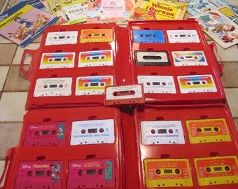 Two sets of 12 vintage Disney books-tapes