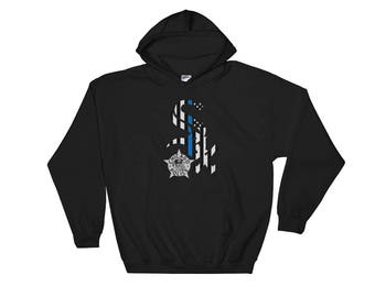 CPD Thin Blue Line Chicago White Sox Hoodie Chicago Police Badge Hooded Sweatshirt
