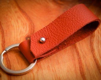 Handmade leather key fob / leather key chain / leather key ring / leather key holder / leather key organizer
