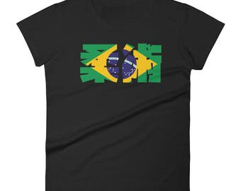 Jiu Jitsu de Brazil Women's short sleeve t-shirt for BJJ, brazilian Jiu Jitsu, grappling, martial arts and MMA