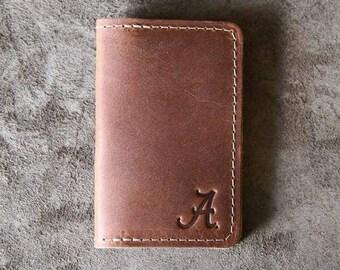 The Officially Licensed Alabama Vincent Fine Leather Business Card Holder Wallet BiFold
