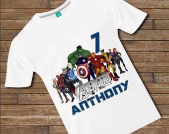 Personalized Avengers T Shirt - Avengers Tee - Avengers Birthday Shirt - Avengers Birthday Tee