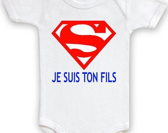 "Funny baby Bodysuit ""I am your son"". Boy Bodysuit has to offer"